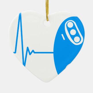 Gamer Heart Beat Ceramic Ornament