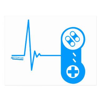 Gamer Heart Beat Postcard