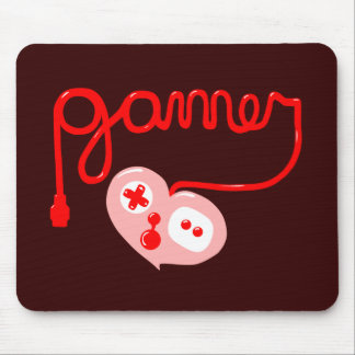 Gamer Heart Mouse Pad