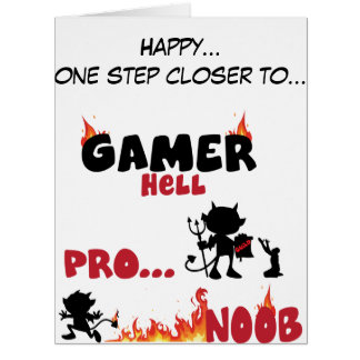 Gamer hell greeting cards