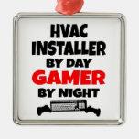 Gamer HVAC Installer Christmas Tree Ornaments