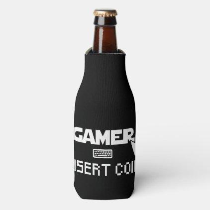 Gamer insert coin bottle cooler