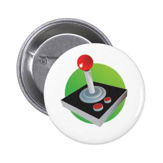 Gamer Joystick Pin Redondo De 2 Pulgadas