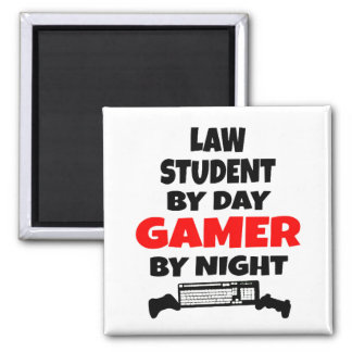 Gamer Law Student 2 Inch Square Magnet