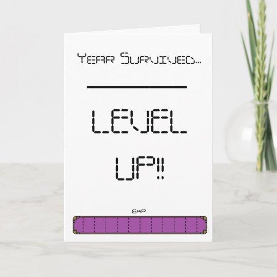 Gamer Level Up Birthday Card Zazzle