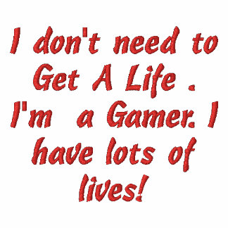 gamer life embroidered hoody