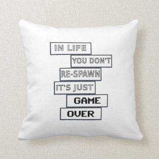 gamer life simple saying throw pillows