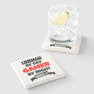 Gamer Lineman Stone Coaster