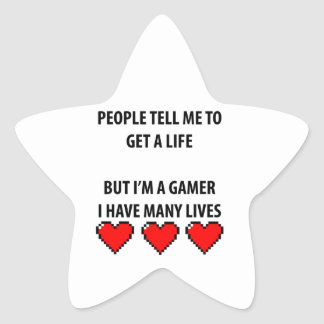 Gamer Lives Star Sticker