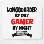 Gamer Longboarder Mouse Pad