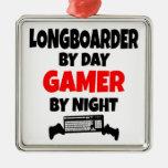 Gamer Longboarder Ornaments
