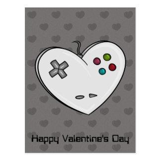 Gamer Love Controller Heart Valentine Postcard