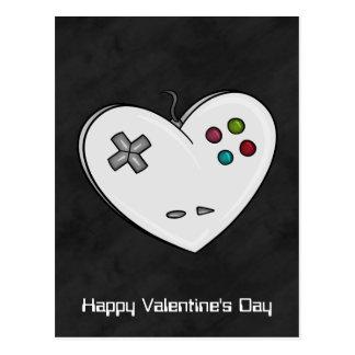 Gamer Love Controller Heart Valentine Post Card