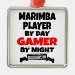 Gamer Marimba Player Christmas Tree Ornament