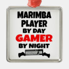 Gamer Marimba Player Metal Ornament