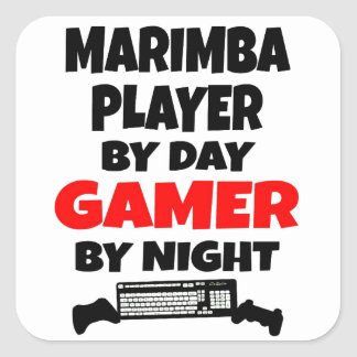 Gamer Marimba Player Square Sticker