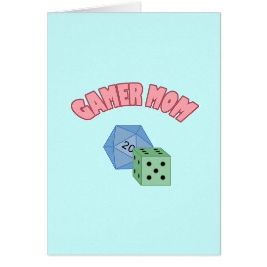 Gamer Mom - Dice Card