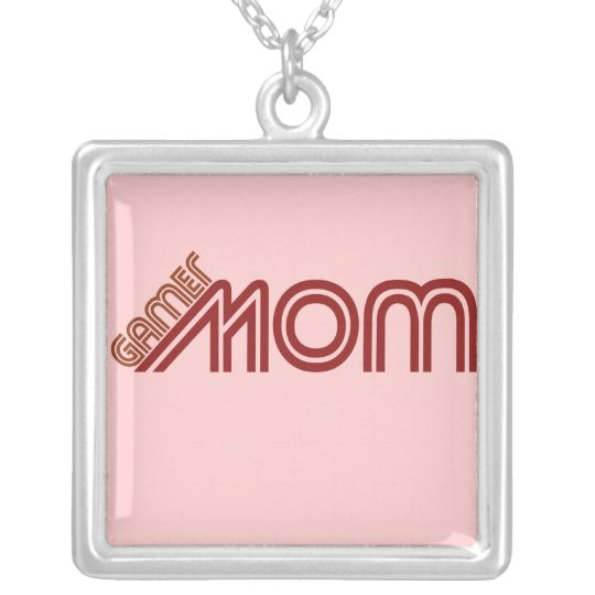 Gamer Mom Silver Plated Necklace