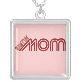 Gamer Mom Square Pendant Necklace