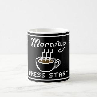 Gamer Mug Morning Coffee Start Screen