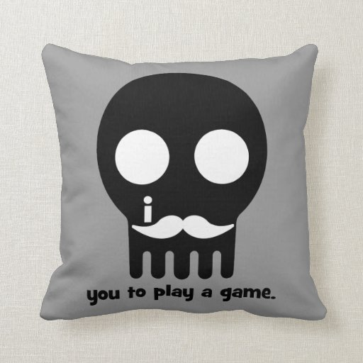gamer mustache pillows