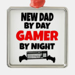 Gamer New Dad Christmas Ornament
