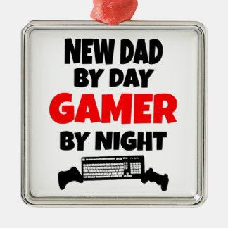 Gamer New Dad Metal Ornament