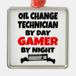 Gamer Oil Change Technician Christmas Tree Ornaments