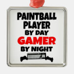 Gamer Paintball Player Ornament