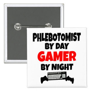 Gamer Phlebotomist 2 Inch Square Button