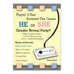Gamer Player 3 Baby Shower Gender Reveal Invite