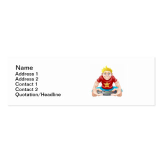 Gamer playing games console too much Double-Sided mini business cards (Pack of 20)