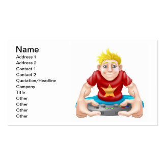 Gamer playing games console too much Double-Sided standard business cards (Pack of 100)