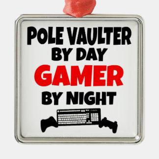 Gamer Pole Vaulter Metal Ornament
