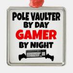 Gamer Pole Vaulter Ornaments