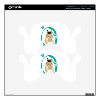Gamer Pug PS3 Controller Decals