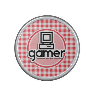 Gamer; Red and White Gingham Speaker