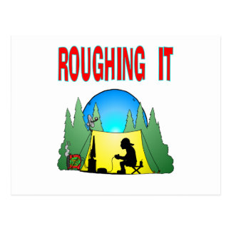 Gamer Roughing It Postcard