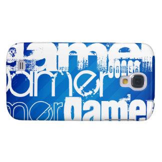 Gamer; Royal Blue Stripes Samsung Galaxy S4 Covers