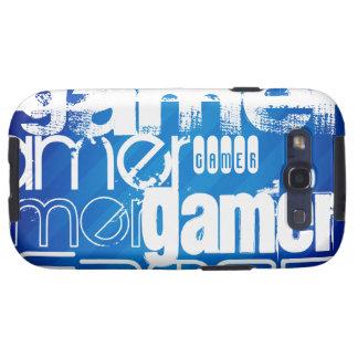 Gamer; Royal Blue Stripes Samsung Galaxy S3 Cases
