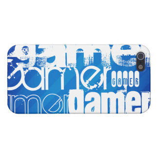Gamer; Royal Blue Stripes iPhone 5 Covers