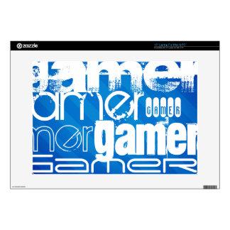 """Gamer; Royal Blue Stripes Decals For 15"""" Laptops"""
