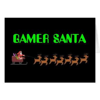 Gamer Santa Card