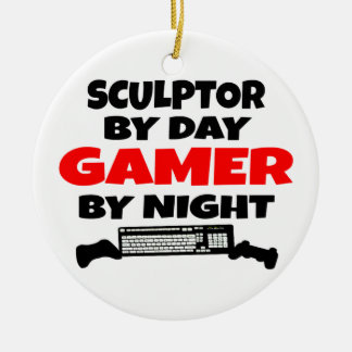 Gamer Sculptor Ceramic Ornament