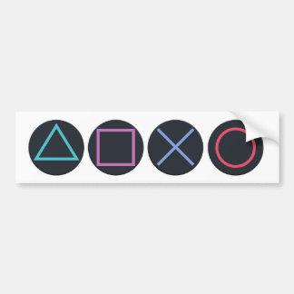 Gamer Shapes Bumper Sticker