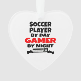 Gamer Soccer Player Ornament