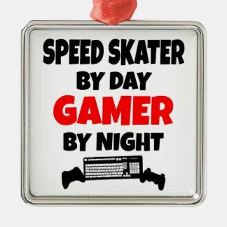 Gamer Speed Skater Christmas Ornament