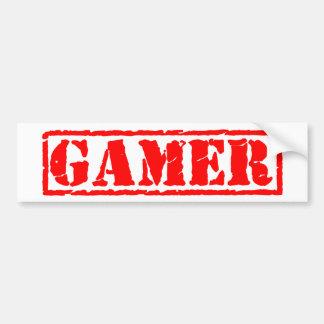 Gamer Stamp Bumper Sticker