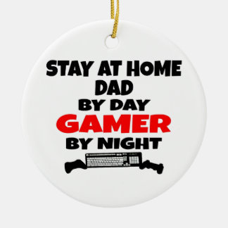 Gamer Stay at Home Dad Ceramic Ornament