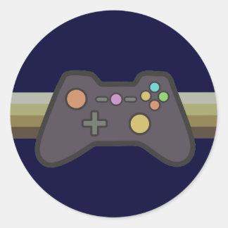 Gamer Round Stickers